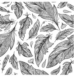 Zentangle feather pattern vector