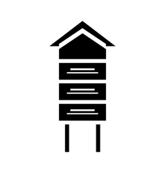 Traditional beehive icon simple style vector
