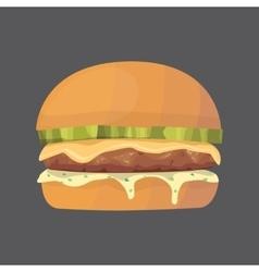 Burger cartoon fast food  cheeseburger or vector