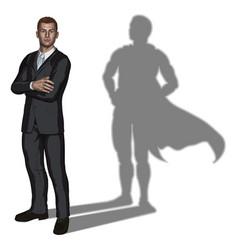 businessman superhero concept vector image