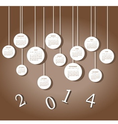 Calendar for 2014 year vector
