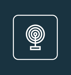 Broadcast outline symbol premium quality isolated vector