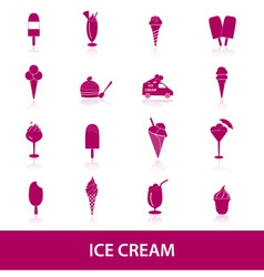 Ice cream icons eps10 vector