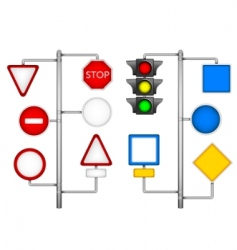 forms for a road signs vector image