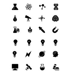 Science solid icons 1 vector