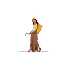 Demeter sign mythological greek goddess of vector