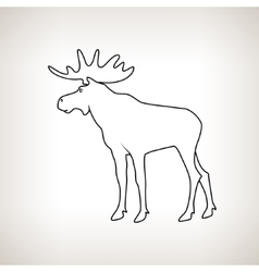 Moose bull with antlers vector