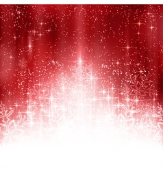 Red white Christmas snowflake background vector image