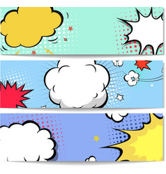 Set of comics boom backgrounds vector image