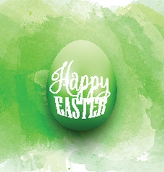 Easter egg on a watercolor background vector