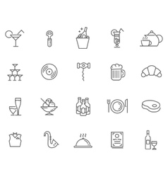 Icon set for restaurant cafe and bar vector