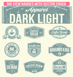 Set of coffee break vintage badges vector
