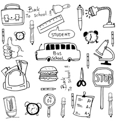 Tools school hand draw doodles vector