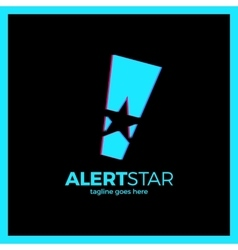 Alarm Exclamation mark Attention star vector image vector image