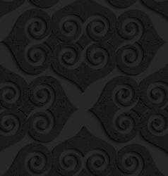 Black textured plastic swirly hearts vector image vector image