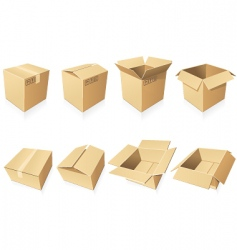 blank cardboard boxes vector image vector image