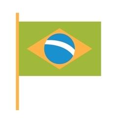 Brazil flag flat vector