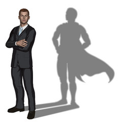businessman superhero concept vector image