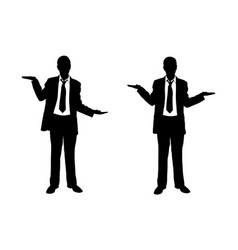 businessmen weighing with their hands vector image
