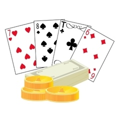Cards and money vector