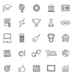 College line icons on white background vector