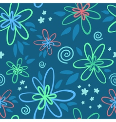 Exotic floral seamless pattern vector image