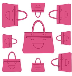 Fashion bag pattern vector