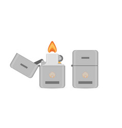 flat cigarette lighter icon vector image