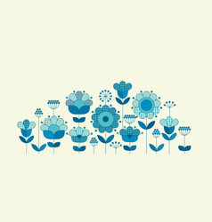 Flower horizontal header template vector