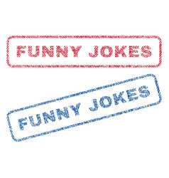 Funny jokes textile stamps vector