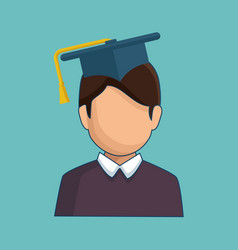 Graduating avatar icon vector