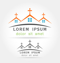 house church icon vector image