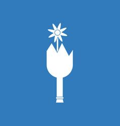 Icon broken bottle and flower vector