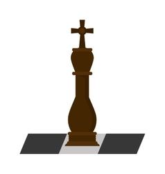 Isolated chess piece design vector