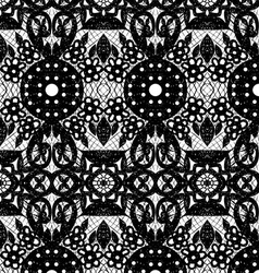 lace with circles and flowers vector image vector image