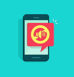 mute mode sign for mobile phone vector image vector image