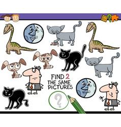 Preschool task for kids vector