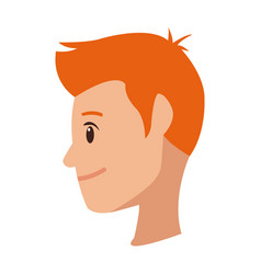 profile young man cartoon people image vector image