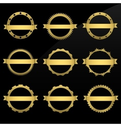 Round golden frames vector
