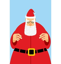 Santa Claus in red dress Christmas character with vector image