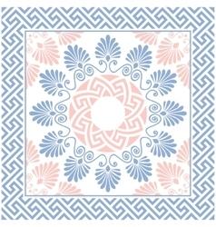 Seamless greek floral ornament meander vector