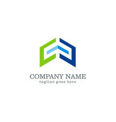 shape arrow company logo design vector image vector image