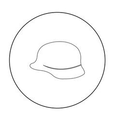 Soldier helmet military icon outline single vector