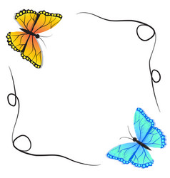 Spring butterfly and winter butterfly vector