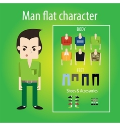 Stylish angry young student flat character vector image vector image