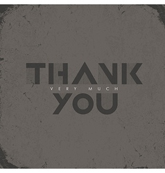 thank you aged card vector image vector image