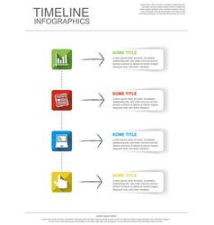 Timeline infografic vector