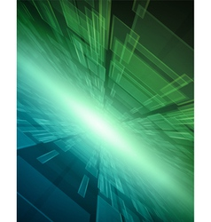 Virtual technology space background vector image vector image