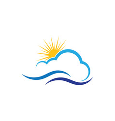 Water wave logo template design vector