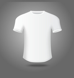 White isolated mans t-shirt on gray background for vector image vector image
